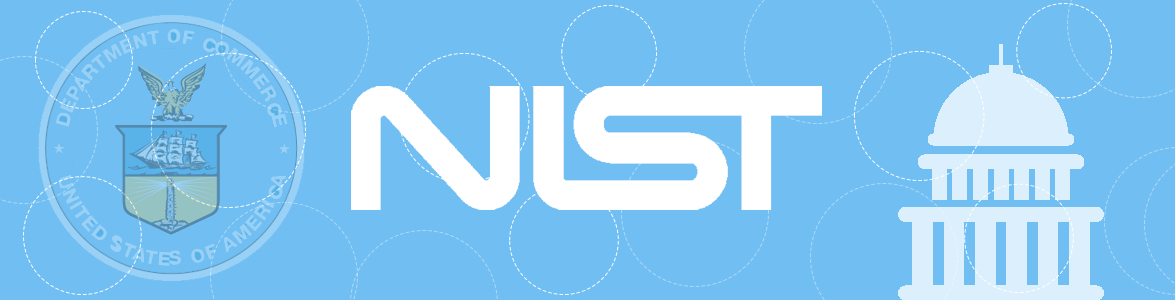 National Institute of Standards and Technology Logo on Light Blue Background