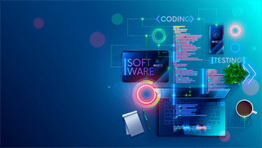 Stylized image conveying software testing and coding
