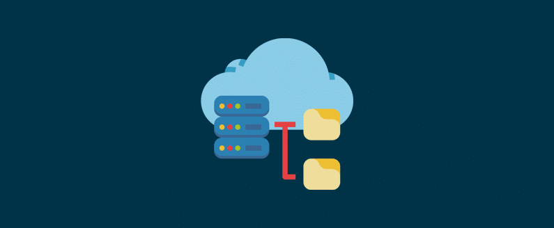 Stylized image showing cloud computing